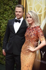 Derek Hough and Julianne Hough on the red carpet at the 2015 Creative Arts Emmys. Courtesy: Emmys.com